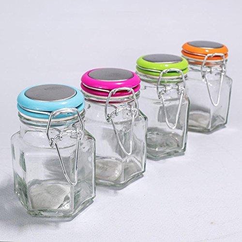 Albalù italia kit 12 pezzi bomboniere barattoli vetro portaconfetti chiusura ermetica | accessori bomboniere fai da te