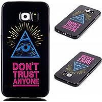 Uming® Copertura di caso della TPU colorful soft modello della stampa Case Cover ( Triangular eyes - per Samsung Galaxy Core Prime G360H G360 ) Sacchetto di caso della copertura della protezione del silicone del telefono cellulare