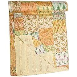 Tribal asiatischen Textilien Vintage patola Seide Sari kantha Quilt, Patchwork Tagesdecken, Wirft, Ralli, Gudari