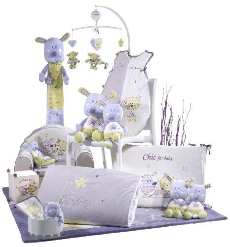 Imagen para Sauthon On Line Chic for Kids - Colchón de cambiador (desenfundable, 68 x 84 cm, modelo grande), color blanco y gris