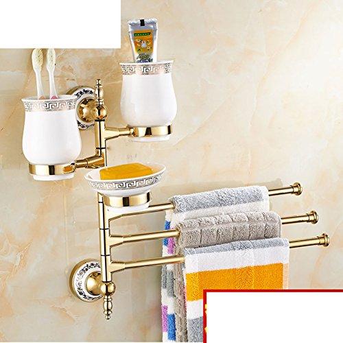 coupes continentales/ tasse en céramique porte-gobelet rotatif/ Salle de bains Activités porte-gobelets/Or porcelaine porte brosse à dents tasse bleu et blanc-L