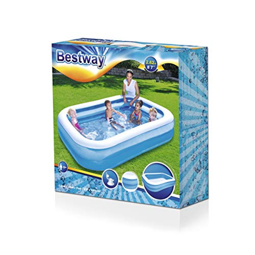 Bestway Family Pool Blue Rectangular - 8