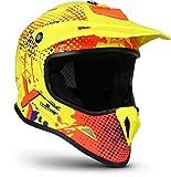 """Soxon® SKC-33 """"Fusion Neon"""" · Kinder-Cross-Helm · Motorrad-Helm MX Cross-Helm MTB BMX Cross-Bike · ECE Schnellverschluss SlimShell Tasche S (53-54cm)"""