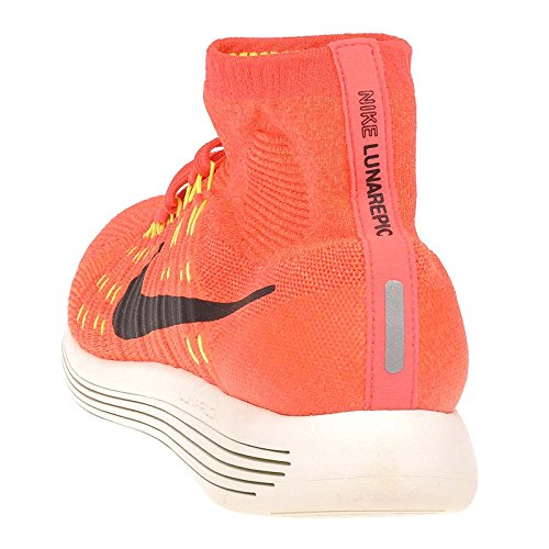 Nike Wmns Lunarepic Flyknit, Chaussures de Running Entrainement Femme Orange - Naranja (Brght Crmsn / Blck-Hypr Orng-Vlt)