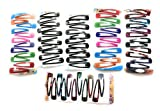 #2: Multi color tic tac hair clips for women and girls (pair-32) (Multi)