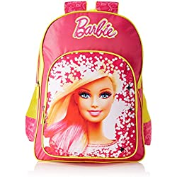 Barbie Polyester Pink and Yellow School Bag (Age group :8-12 yrs)