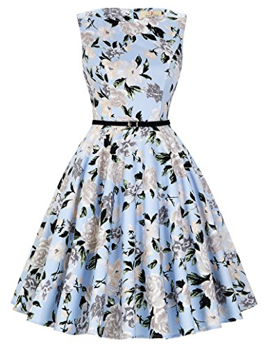 50s audrey hepburn kleid rockabilly kleid partykleider cocktailkleider swing dress Größe 2XL...
