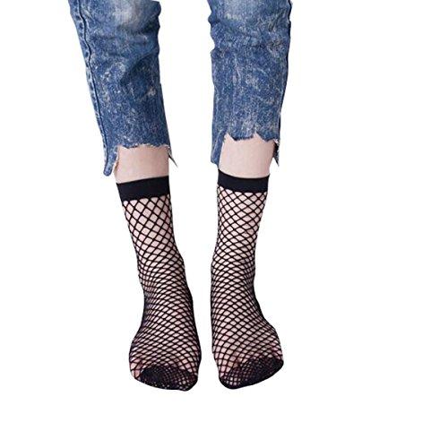 Bambus Damen-rock (Libella 2er Pack Damen Netz Socken Strumpfhose ein echter Hingucker Strumpfhosen-Trend 27221)