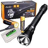EdisonBright Fenix TK47UE Ultimate Edition 3200lm LED Taschenlampe mit 2 x Fenix USB wiederaufladbaren 18650 Li-Ionen-Akkus und BBX3 Akku-Etui
