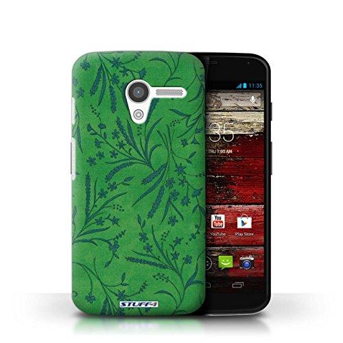 Kobalt® Imprimé Etui / Coque pour Motorola MOTO X / Gris conception / Série Motif floral blé Vert/Bleu