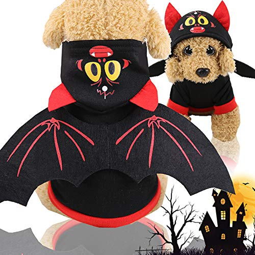 Dem Rücken Katze Kostüm Auf Hunde - first123 Haustier Fledermausflügel Halloween Kostüm für Hund Katze Cosplay Party Kostüme Cute Puppy Kitten Requisiten Kostümzubehör