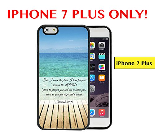 iPhone 7Plus-Entspannende Beach Shore Scene Jeremiah 29: 11Bibel Vers inspirierendes Zitat Apple iPhone 7Plus Gummi TPU Silikon Schutzhülle