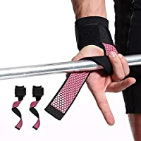 Vuffuw Padded Weight Lifting Straps, wrist wraps with Superior Wrist Support, Heavy Duty Padding & Anti-Chafe for Powerlifting, Bodybuilding, Weight Lifting, Training, Men Women