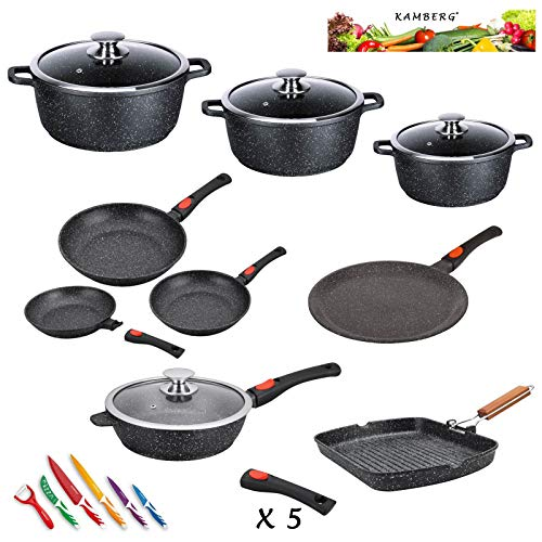 Kamberg - 0008163 - Set Lot Batterie de cuisine 24...