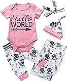 Catpapa Hello World Set für Neugeborene, gepunktet, Blumenmuster Gr. 56, Rose