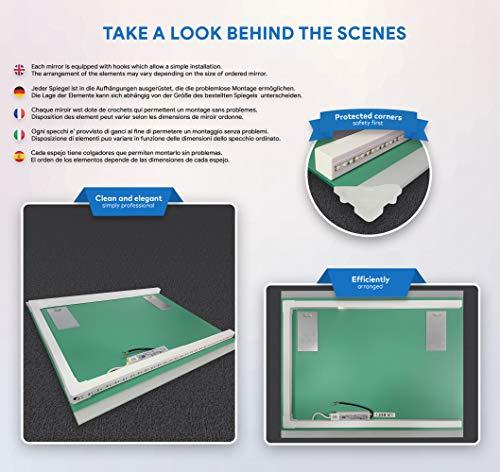 Badezimmer Spiegel – Design Badspiegel mit LED Beleuchtung - 7