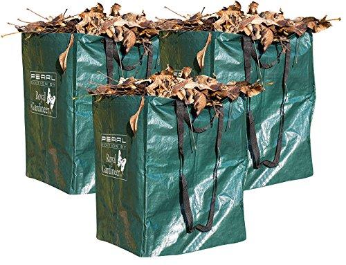 *Royal Gardineer Gartenabfallsack: 3er-Set Gartensäcke für Laub & Co, bis 120 Liter & 25 kg, rechteckig (Laubsack)*