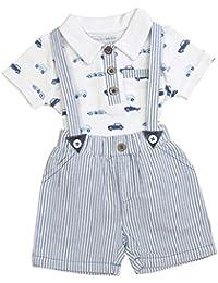 Babyprem Baby T Shirt & Shorts Braces Set Boy Cotton Clothes Car Newborn - 6 mth
