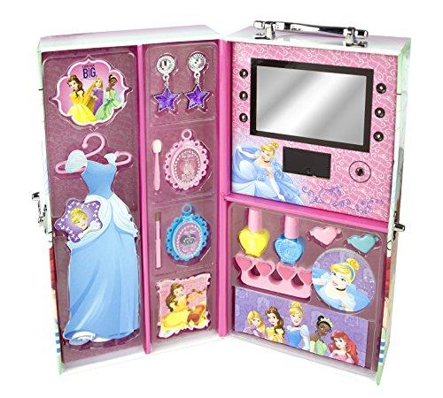 Markwins Disney Princess und Prinzessinnen, 1er Pack (Magischer Beauty-Koffer, Make Up, Lidschatten, Nagellack)