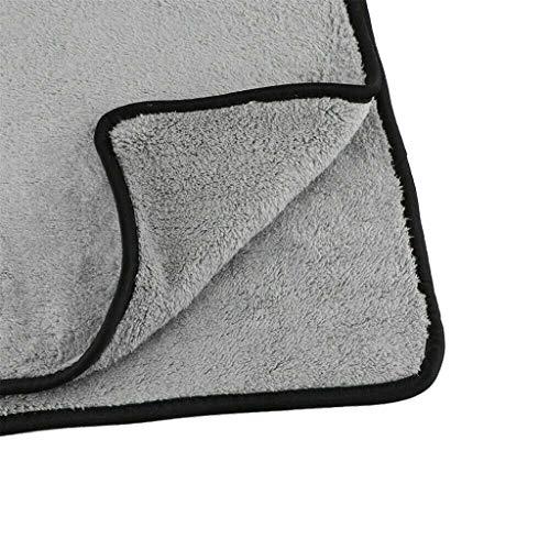 SIRIGOGO Neu!40X40 Korallensamt-Reinigungstuch Mikrofaser- Reinigungstuch-Poliertücher zur Reinigung von Auto & Motorrad Microfasertücher Poliertuch,Autopflege (Grau)