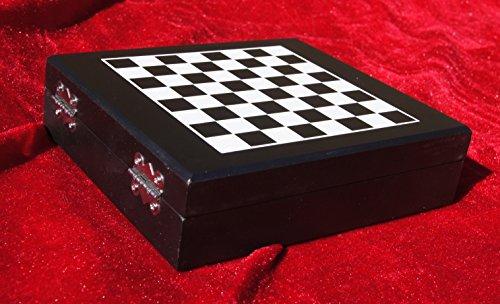Luxus-Weinset 'Venecia', Holz-Geschenkbox, 5-tlg., Metall-Accessoires, inklusive Schachspiel und...