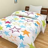 #10: SUNJES Star Print Reversible Poly Cotton double Bed , Blanket, Dohar, AC Blanket, AC Dohar best gift for kids