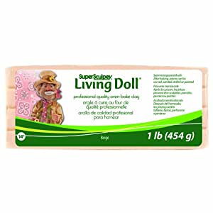 Super Sculpey Living Doll Clay 1 Pound-Beige