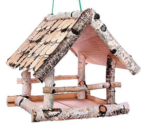 Garten und Holztrends Vogelhaus Vogelhäuser (V59) Vogelfutterhaus Vogelhäuschen-aus Holz-DHL-Schreinerarbeit Ständer Vogelhausständer