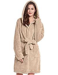 DecoKing Peignoir XS - XXXL Court Femme Homme Unisexe à Capuchon Robe de Chambre Micro-Fibre Douillette Moelleuse Polaire Sleepyhead