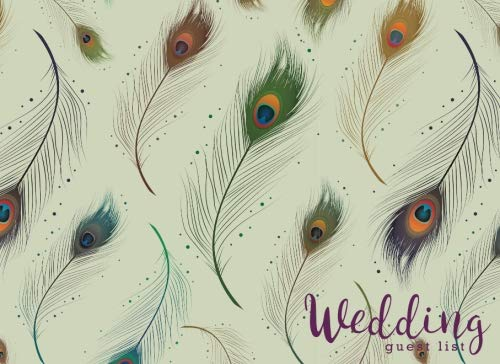 Wedding Guest List: Elegant Peacock Feather, Wedding Guest Tracker, Wedding Guest Planner List, List Names and Addresses of People to Invite, Gift ... You Card Log: Volume 5 (Wedding Planner) por Joy M. Port
