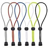 Hysagtek 6 pares de cordones de zapatos elásticos Sin cordones para zapatillas de deporte, niños y adultos (rojo, negro, blanco, gris, azul, verde)