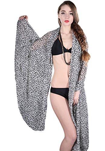 NiSeng Donna Copricostumi Calzedonia Vestito dalla Spiaggia Anti UV 200 * 150 CM LDot Bianco