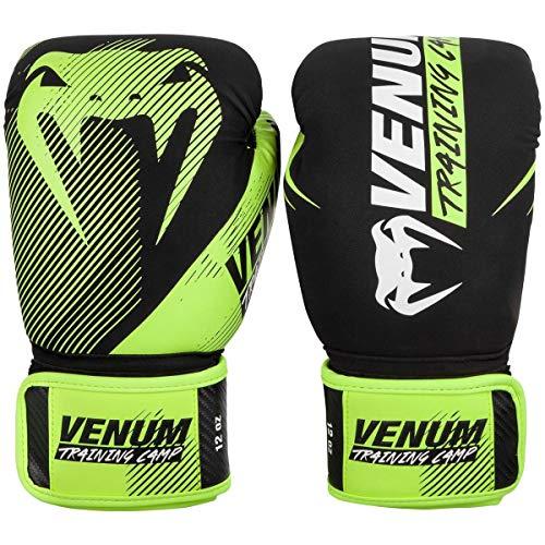 Venum Training Camp 2.0 Guantes de Boxeo, Adultos Unisex, Negro/Amarillo Neon, 16 oz