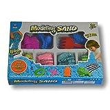 Arena mágica para modelar. 800 gr. 4 Colores. con 4 moldes de...