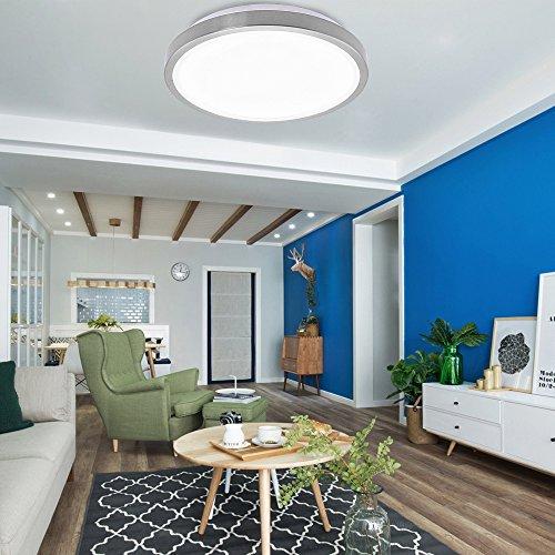 12W LED Deckenleuchte Deckenbeleuchtung Innenlampe für Wohnzimmer Küche Korridor Weiß Rund Leuchte decke Küchenleuchte Ø344mm [Energieklasse A++] (Leuchten Decke Küche)