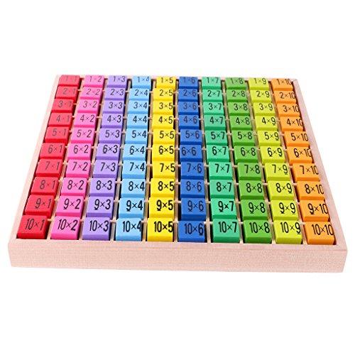MagiDeal Holz Tabelle Multiplikation Puzzle Mathematik