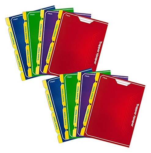 mead-trapper-keeper-2-pocket-portfolio-12-x-938-x-12-inches-assorted-pack-of-8-73045