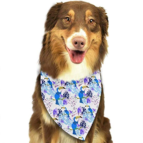 and Birds Fashion Dog Bandana Pet Accessories Easy Wash Scarf ()