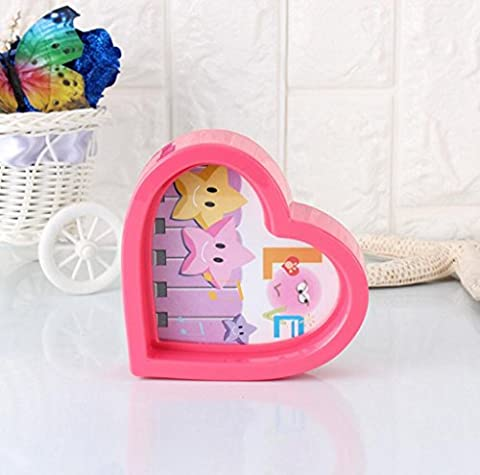 Aoligei Color heart simple 3 inch frame home decoration frame 11*12cm
