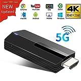 YEHUA Adaptateur d'affichage sans Fil 4K 5G/2.4G WiFi HDMI Dongle Récepteur...