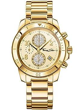 Thomas Sabo Damen-Armbanduhr Chronograph Quarz Edelstahl WA0191-264-207-40 mm