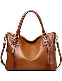 TOP-BAG SF8008 - Bolso de mujer, piel natural