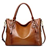 Jack&Chris Women Ladies' Genuine Leather Tote Satchel Shoulder Handbag - SF8008