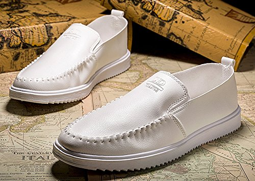 ed39d412512be ... Blanc Fermeture À Homme Bride Mocassins Enfiler Easemax Cheville Simple  z16wxqPS