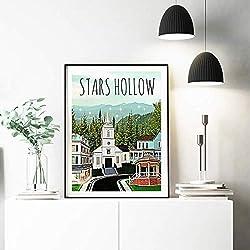 tzxdbh Plakate Und Drucke Star Hollow-Plakate, Inspiriert Von Gilmore Girl-Leinwand-Wandgemälden, Bilder Für Wohnkultur50X70