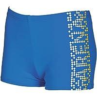 ARENA Shed Jr Bañador Short, niños, Azul (pix Blue/Lily), 10-1
