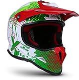 """Soxon SKC-33 """"Fusion Green"""" Kinder-Cross-Helm, Motorrad-Helm MX Cross-Helm MTB BMX Cross-Bike, ECE Schnellverschluss SlimShell Tasche S (53-54cm)"""