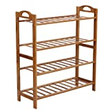 Songmics 100% Natural Bamboo Shoe Rack, 4Levels, Shoe - Best Reviews Guide