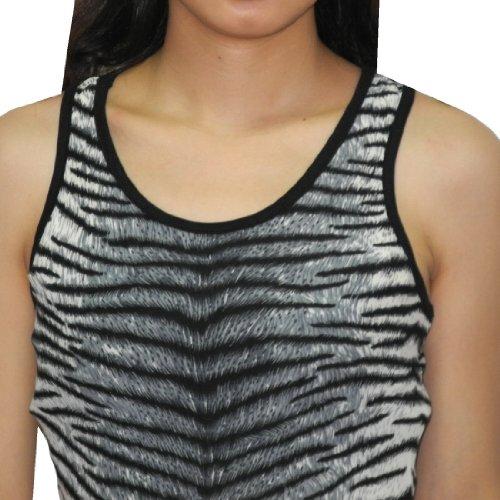 Thai Femme Exotic Sexy Elegant Sleeveless Summer Long Dress Noir & Gris