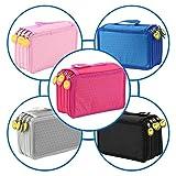 Generic nero: nuovo arrivo 5colori disegno Sketng Colorful Pencil Case Holder bag per 72pezzi matite